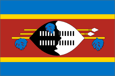 state flag Kingdom of Swaziland