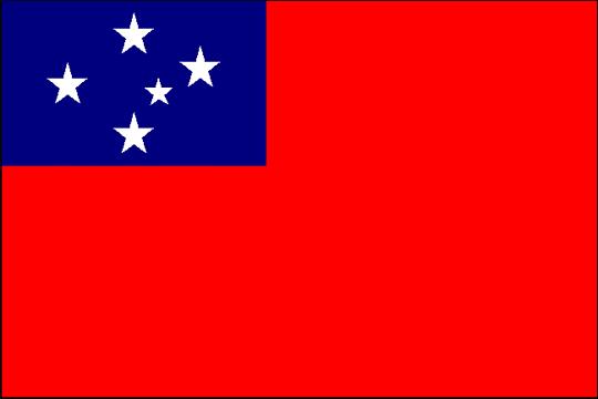state flag Western Samoa