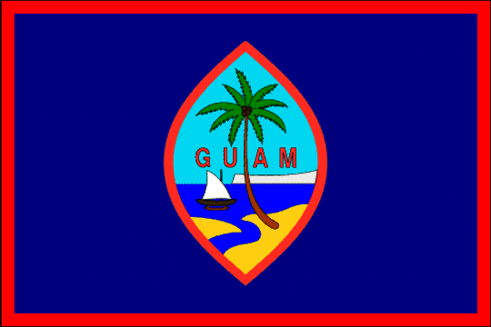 The state symbolics of the Territory of Guam. Flags. Emblems