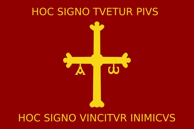 state flag Kingdom of Asturias
