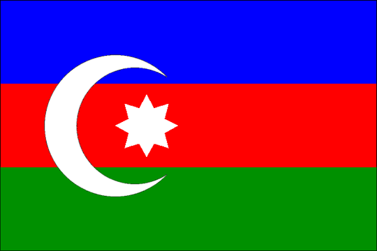 state flag Azerbaijan Democratic Republic