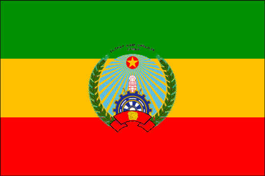 state flag People's Democratic Republic of Ethiopia