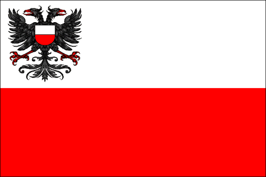 state flag Free and Hanseatic City of Lubeck